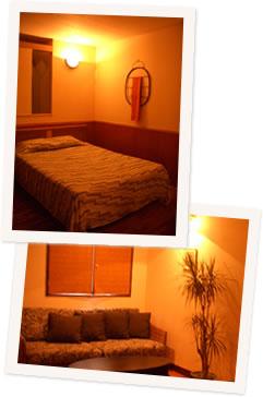写真:沖縄市のホテル サンタフェの室内